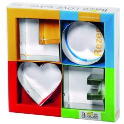 "Ausstechform ""LOVE-Kekse"" 6 - 7,5 cm"