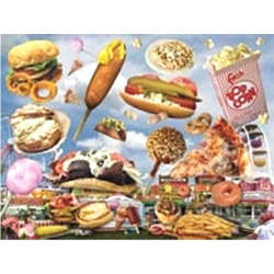 Puzzle Fast Food 61 x 46 cm, 550 Teile