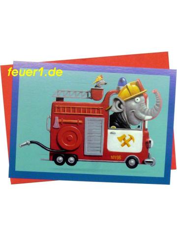 Postkarte FW-Elefant + Umschlag - A5