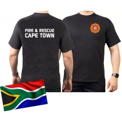 T-Shirt black CAPE TOWN Fire & Rescue (South Africa)