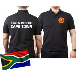Polo black, CAPE TOWN Fire & Rescue XXL