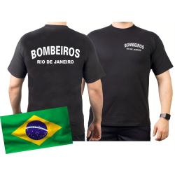 T-Shirt black, BOMBEIROS Rio de Janeiro (Brasil)