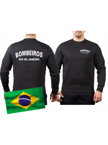 Sweat black, BOMBEIROS Rio de Janeiro (Brasil)