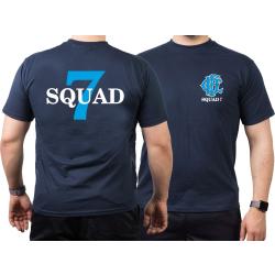 CHICAGO FIRE Dept. Squad 7, blue, old emblem, blu navy...