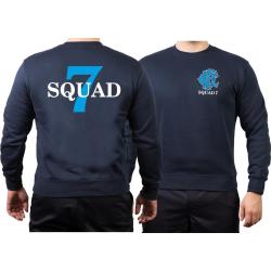 CHICAGO FIRE Dept. Squad 7, blue, old emblem, navy Sweat