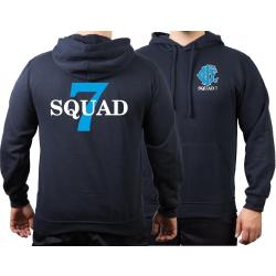 CHICAGO FIRE Dept. Squad 7, blue, old emblem, azul marino...