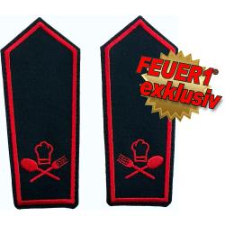 FEUER1 Dienstgrad-Schulterklappen-Paar Spezial mit Klett:...