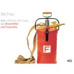 Glückwunschkarte con Feuerlöscher ( ...Frau...)