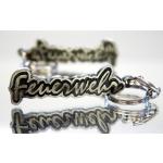 Schlüsselanhänger aus Metall mit Feuerwehr-Schriftzug beidseitig