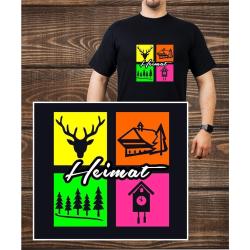 T-Shirt black, Heimat, neon