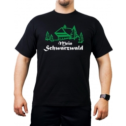 T-Shirt black, Mein black forest