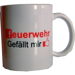 """Kaffeetasse: """"feuerwehr gefällt mir"""""""