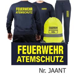 Sweat-Tenue de jogging marin, FEUERWEHR ATEMSCHUTZ...