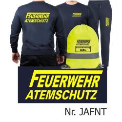 Sweat-Tenue de jogging marin, FEUERWEHR ATEMSCHUTZ longue...