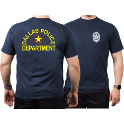 T-Shirt azul marino, Dallas Police Dept., Texas