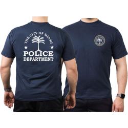 T-Shirt azul marino, Miami Police Dept., Florida