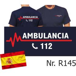 T-Shirt azul marino (Camisetat azul oscuro), AMBULANCIA...