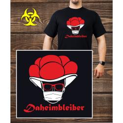T-Shirt nero, Daheimbleiber (Corona-Edition)