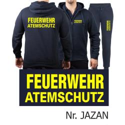 Kapuzenjacke-Jogginganzug navy, FEUERWEHR ATEMSCHUTZ...