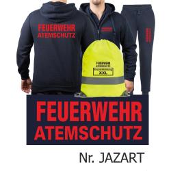 Hooded jacket-Jogging suit navy, FEUERWEHR ATEMSCHUTZ in...