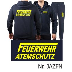 Kapuzenjacke-Jogginganzug navy, FEUERWEHR ATEMSCHUTZ mit...
