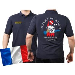 Polo blu navy, Sapeurs Pompiers Strasbourg - Courage Et...