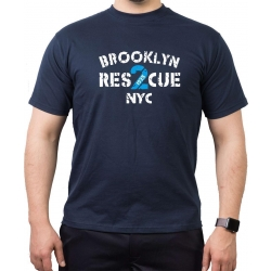 T-Shirt navy, RES 2 CUE (1925) Brooklyn NYC
