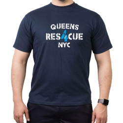T-Shirt navy, RES 4 CUE (1931) Queens NYC