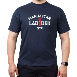 T-Shirt navy, LAD 1 DER (1865) Manhattan NYC