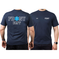 T-Shirt navy, New York City Fire Dept. EMT, Star of Life
