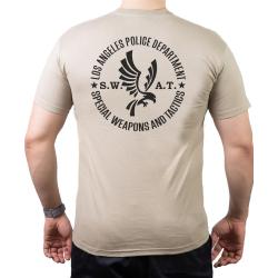 T-Shirt sandfarben, Los Angeles Police Dept. SWAT,...