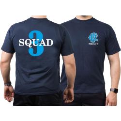 CHICAGO FIRE Dept. Squad 3, blue, old emblem, navy T-Shirt