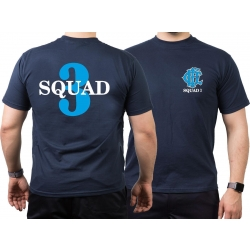 CHICAGO FIRE Dept. Squad 3, blue, old emblem, azul marino...