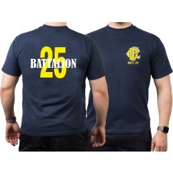 CHICAGO FIRE Dept. Battalion 25, yellow, old emblem, azul...