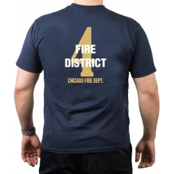 CHICAGO FIRE Dept. Fire District 4, gold, old emblem,...