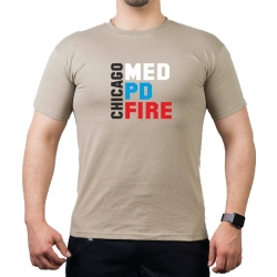 CHICAGO MED - PD - FIRE, farbig, sand T-Shirt