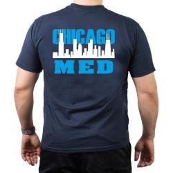 CHICAGO MED, Skyline white/blue, navy T-Shirt