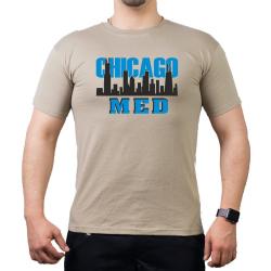 CHICAGO MED, Skyline black/blue, sand T-Shirt