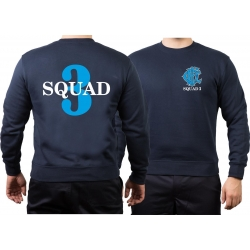 CHICAGO FIRE Dept. Squad 3, blue, old emblem, navy Sweat