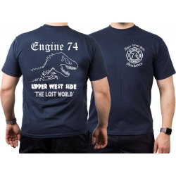 T-Shirt navy, New York City Fire Dept. THE LOST WORLD -...