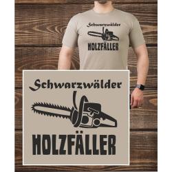 T-Shirt sandfarben, black forest Holzfäller