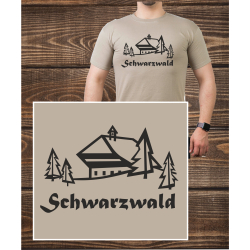 T-Shirt sandfarben, black forest with black foresthof