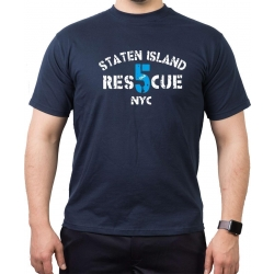 T-Shirt navy, RES 5 CUE (1948) Staten Island NYC