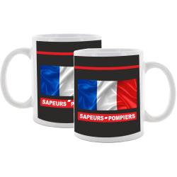 Tasse (Coupe) Sapeurs Pompiers, flag