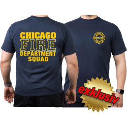 CHICAGO FIRE Dept. SQUAD, navy T-Shirt