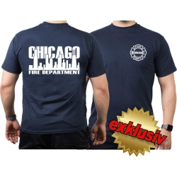 CHICAGO FIRE Dept. Skyline, navy T-Shirt