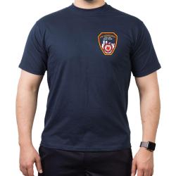 New York City Fire Dept. Emblem on front, azul marino...