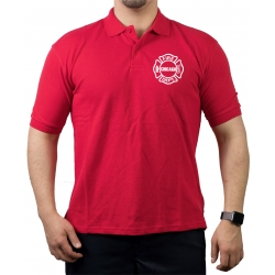 CHICAGO FIRE Dept. Standard, Logo on front, red Polo