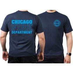 CHICAGO FIRE Dept. Standard in blue, navy T-Shirt