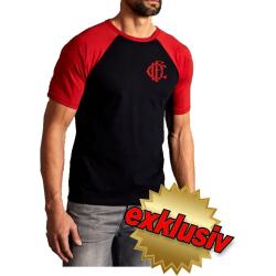 CHICAGO FIRE Dept. Old Emblem on front, black/red T-Shirt